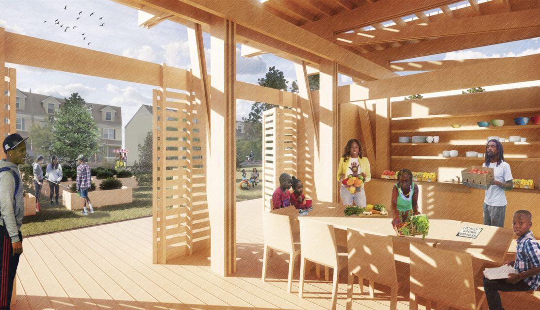 North Philly Peace Park Pavilion © Bohlin Cywinski Jackson