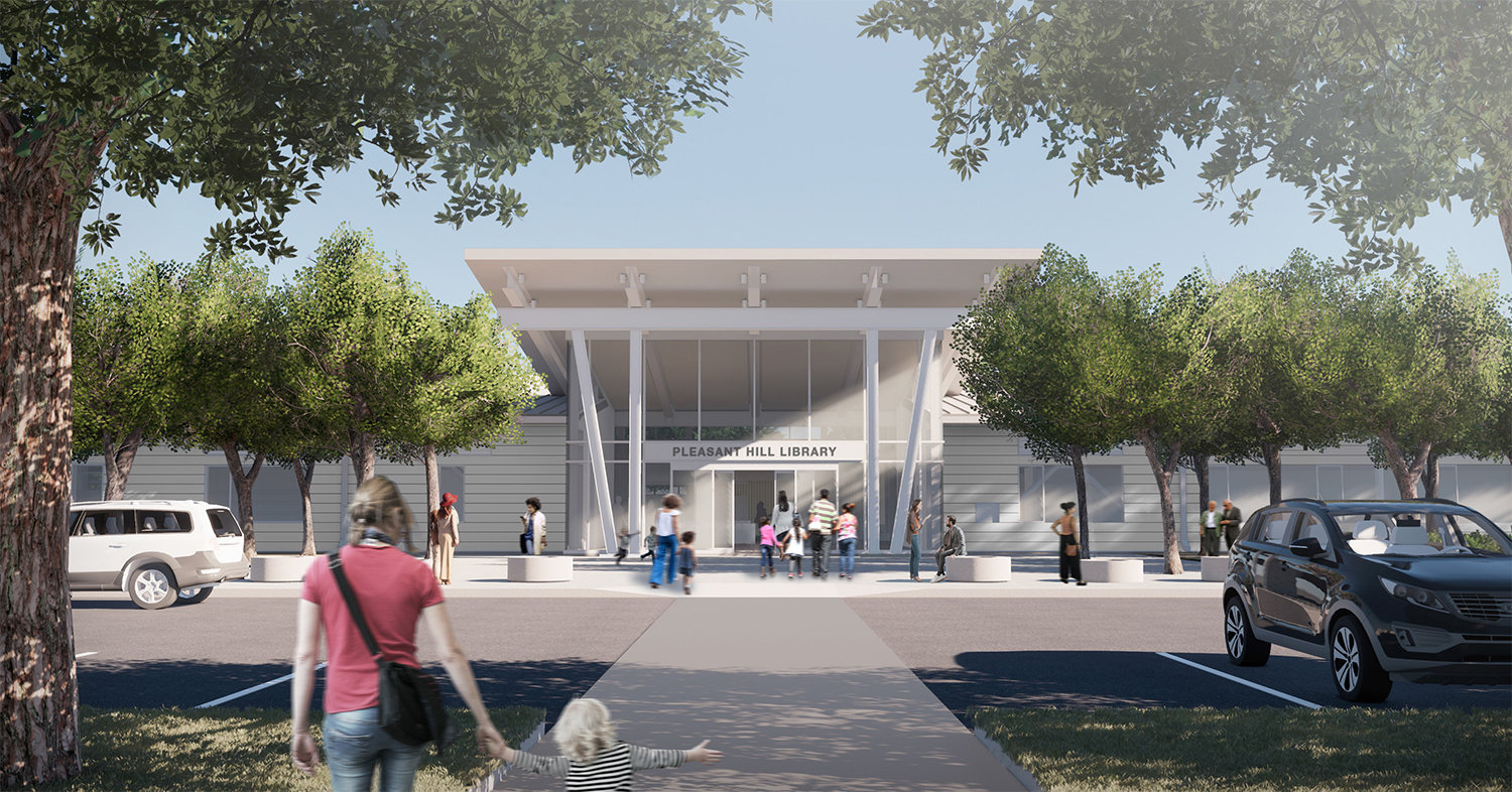 Pleasant Hill Library Exterior Rendering
