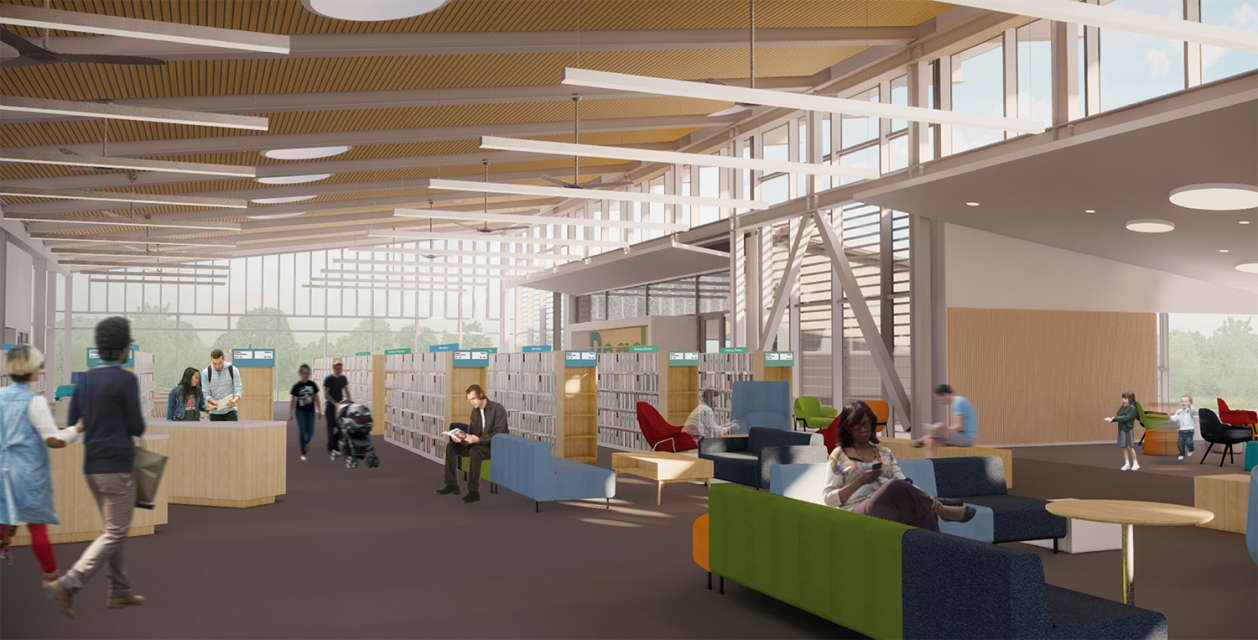 Pleasant Hill Library Interior Rendering