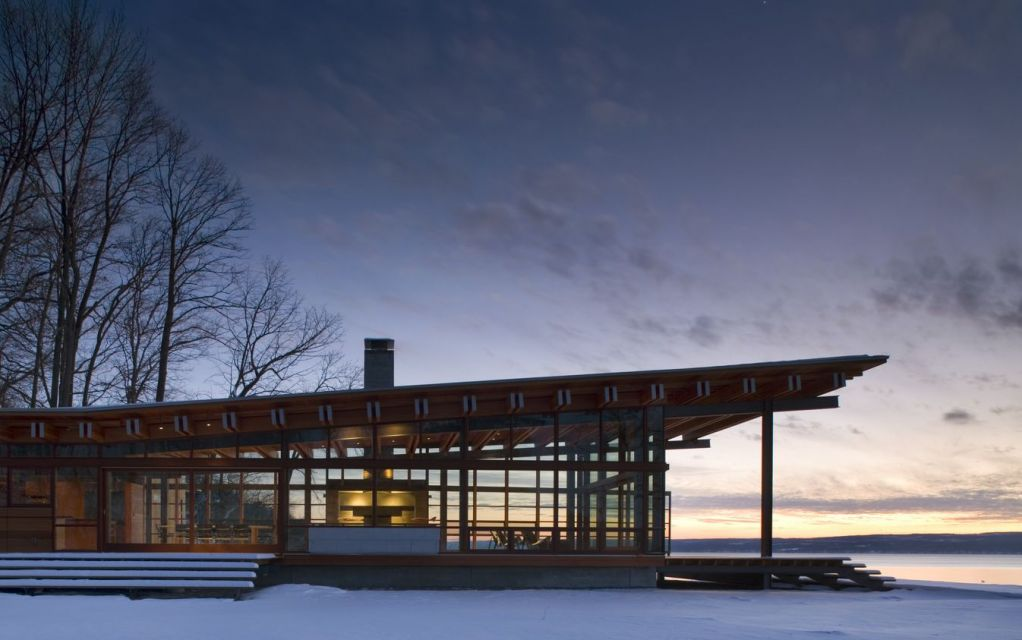 Combs Point Residence, Finger Lakes, New York © Nic Lehoux