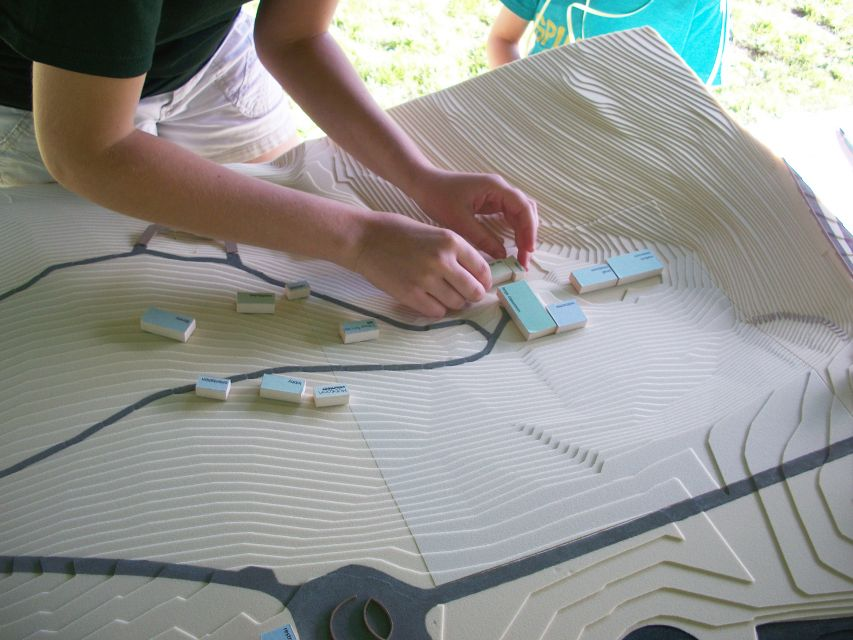 Exploring programming and site at a public meeting during the Frick Environmental Center design process.